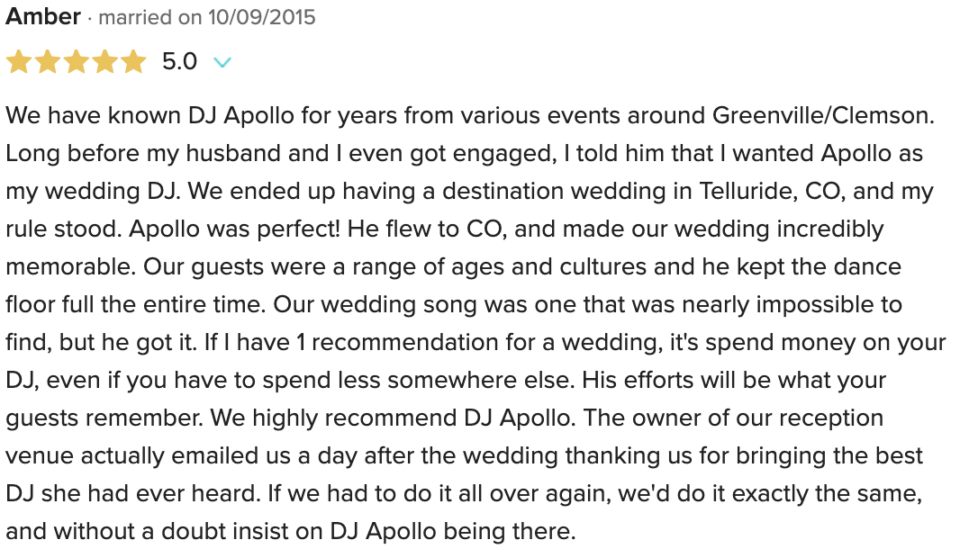 DJ Apollo Reviews